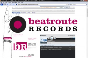 Beatroute Records Myspace Layout by Paul Seele