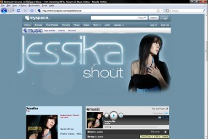 Jessika's Myspace Page - Layout by Paul Seele