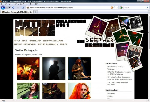 Native Noise Collection Website - Photographs