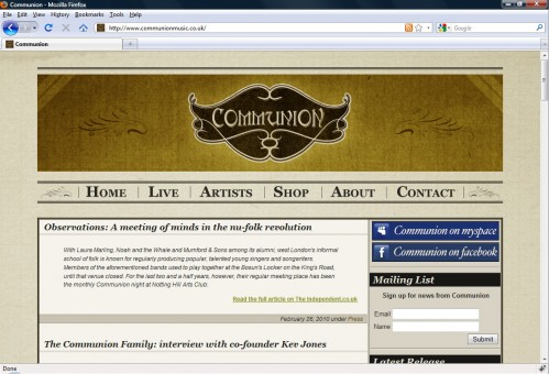 Communion Music Home Page