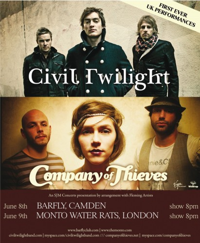 Civil Twilight & Company of Thieves live in London