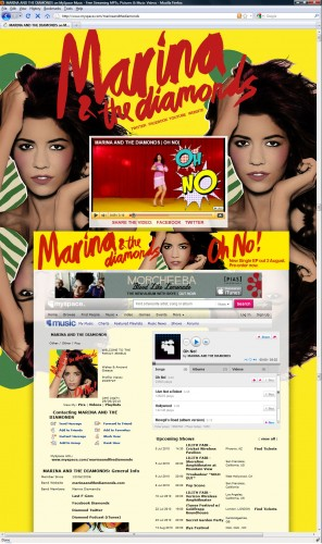Marina Myspace Layout - Oh No!