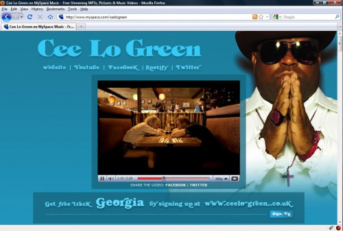 Cee Lo Green - Myspace Layout