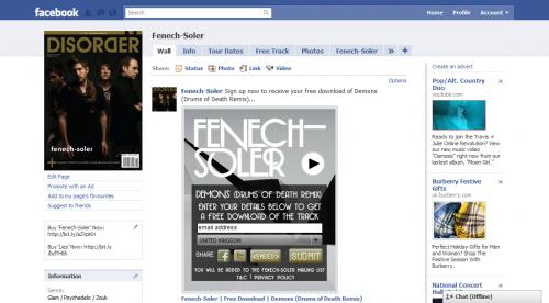 Fenech-Soler Demons Widget Facebook Expanded