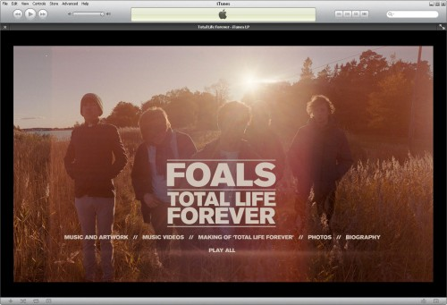 Foals iTunes LP Home