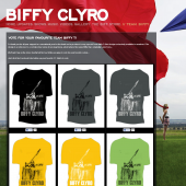 Biffy Clyro T-Shirt Voting System with Facebook Likes