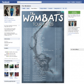 Wombats Tour Dates Facebook Tab
