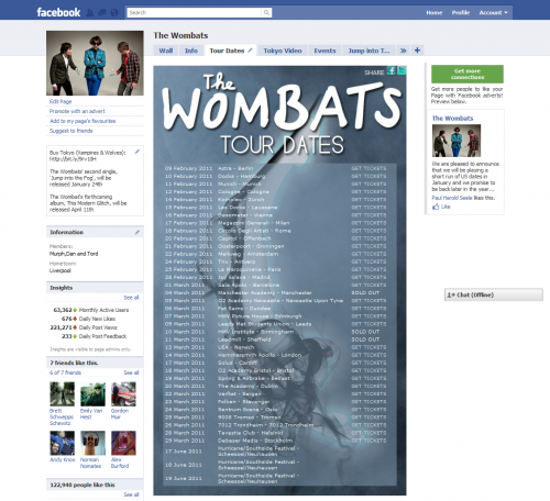 Wombats Tour Dates