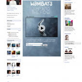 The Wombats Jump Into the Fog Facebook Video Tab