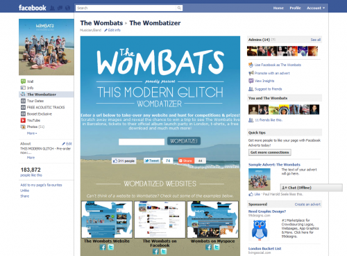 Wombatizer Facebook Tab 01