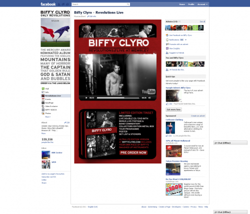 Biffy Clyro Facebook Tab