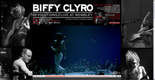 Biffy Clyro Myspace Layout - Expanded Video