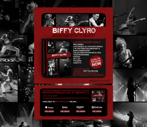 Biffy Clyro Splash Page