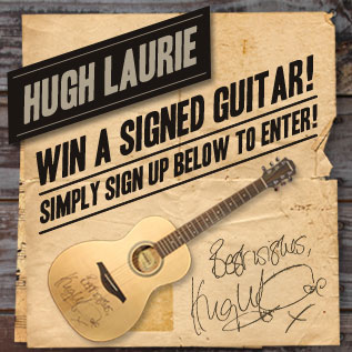 Hugh Laurie - Signed Guitar Competition Widget
