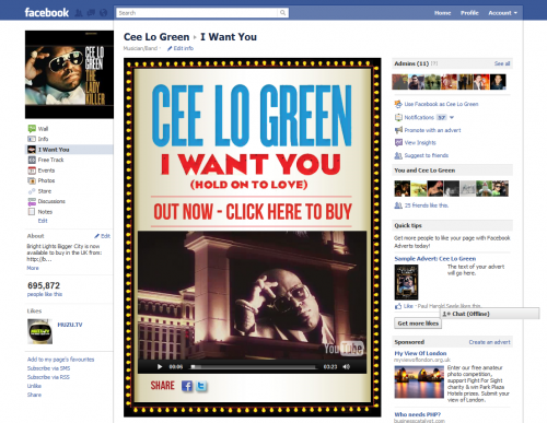 Cee Lo Green - I Want You Facebook Tab