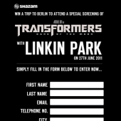 Linkin Park Shazam Competition Page