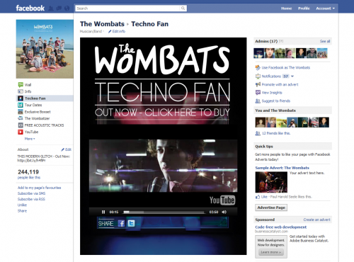 The Wombats - Techno Fan Facebook Tab