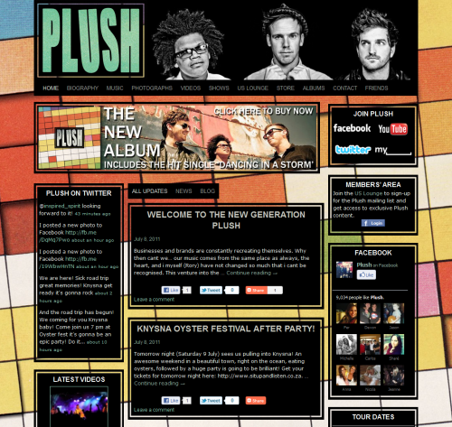 Plush Website - Home Page