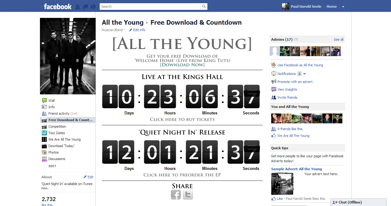 Facebook countdown coupons