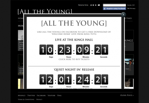 All the Young Countdown Lightbox