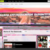 Marina & the Diamonds Radioactive Myspace Layout