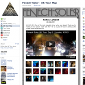 Fenech-Soler UK Tour Map Facebook Tab