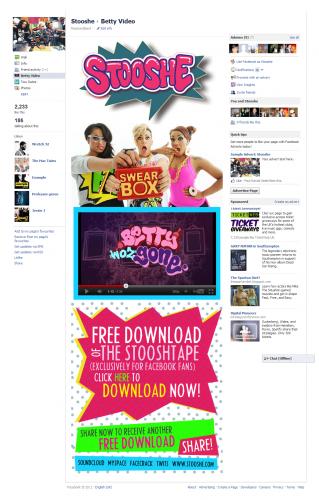 StooShe Facebook Tab