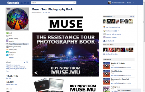 Muse Photography Book Facebook Tab 2