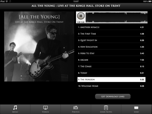ATY Web App - iPad Music