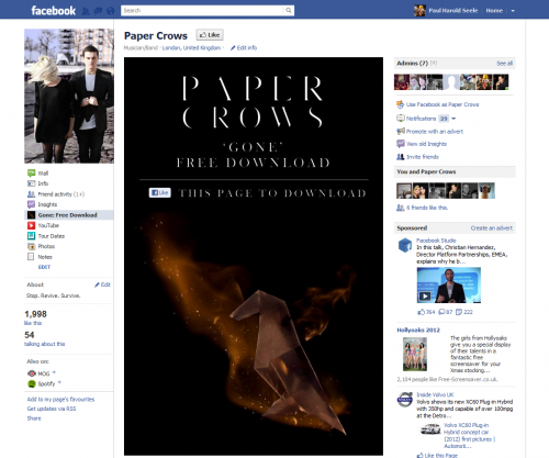 Paper Crows Gone Free Download - Like