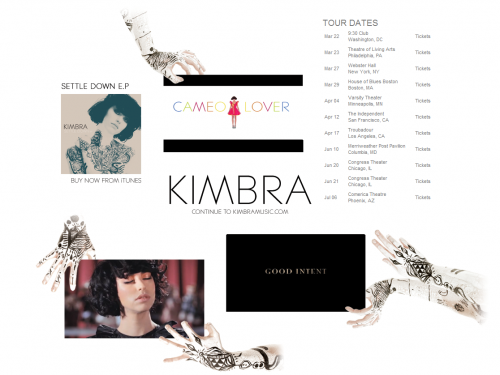 Kimbra - UK Splash Page