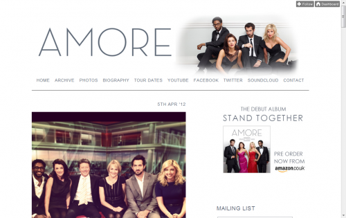 Amore - Official Website