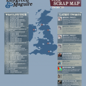 Lilygreen & Maguire Tour Scrap Map