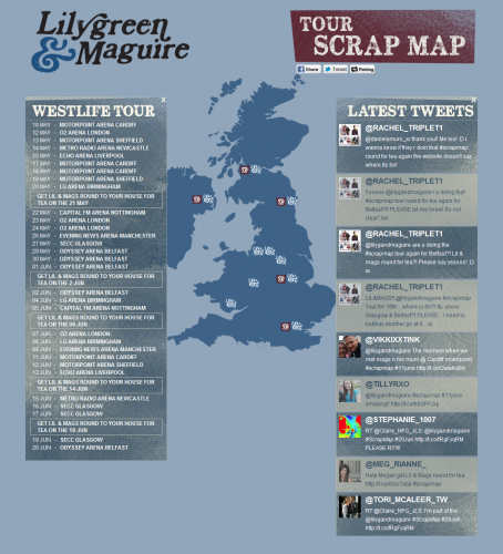 Lilygreen & Maguire's Tour ScrapMap - Home Page