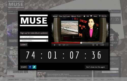 Muse Splash Lightbox - Album Trailer