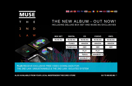 MUSE The 2nd Law - UK