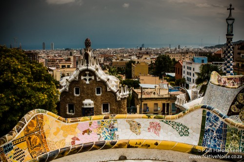 Park Guell by Antoni Gaudi in Barcelona