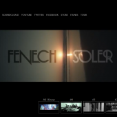 Fenech-Soler full screen video holding page