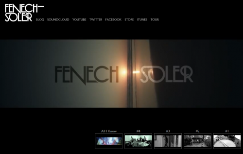 Fenech-Soler Full Screen Video Website