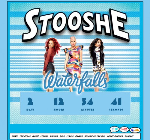 Stooshe Waterfalls Banner Home Countdown