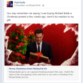 Michael Buble Personalised Christmas Video Facebook App