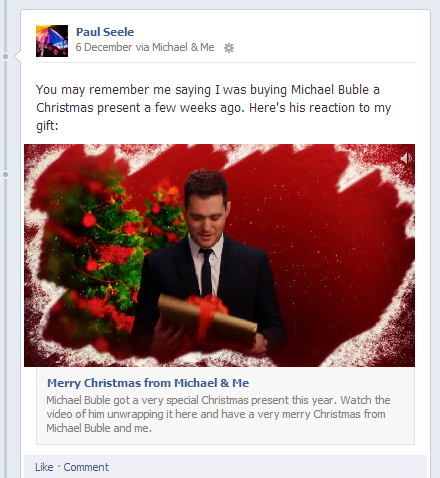 Michael Bublé - Facebook App - In-Stream Playback