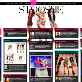 Stooshe Website Relaunch with Social Fan Feed
