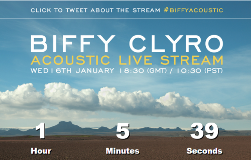 Biffy Clyro acoustic set - countdown small