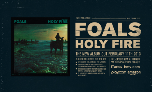 FOALS - Holy Fire - Campaign Page Boxset