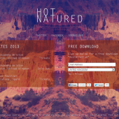 Hot Natured holding page