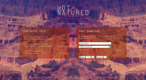 Hot Natured - Official Website - Free Download of Assimilation