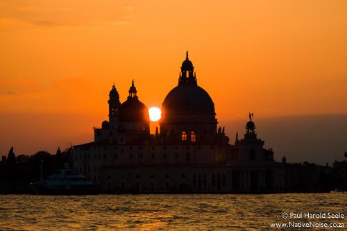 Sunset Over Basilica di Santa Maria della Salute, Venice (Italy)
