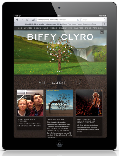 Biffy Clyro Website - iPad 1