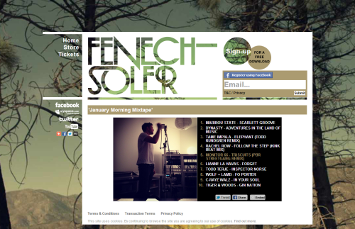 Fenech-Soler 'January Morning Mixtape' 2